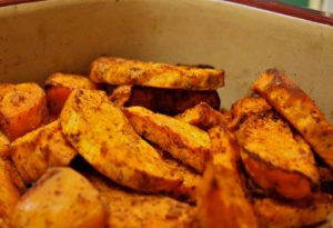 Chili Roasted Sweet Potatoes - Chili Roasted Wedges 1 blog 300x205 - Chili Roasted Sweet Potatoes