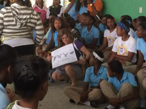 Days For Girls Experience in Dominican Republic - Days for Girls handing out 300x225 - Days For Girls Experience in Dominican Republic