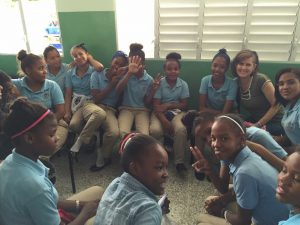 Days For Girls Experience in Dominican Republic - Jenni at School DR 300x225 - Days For Girls Experience in Dominican Republic