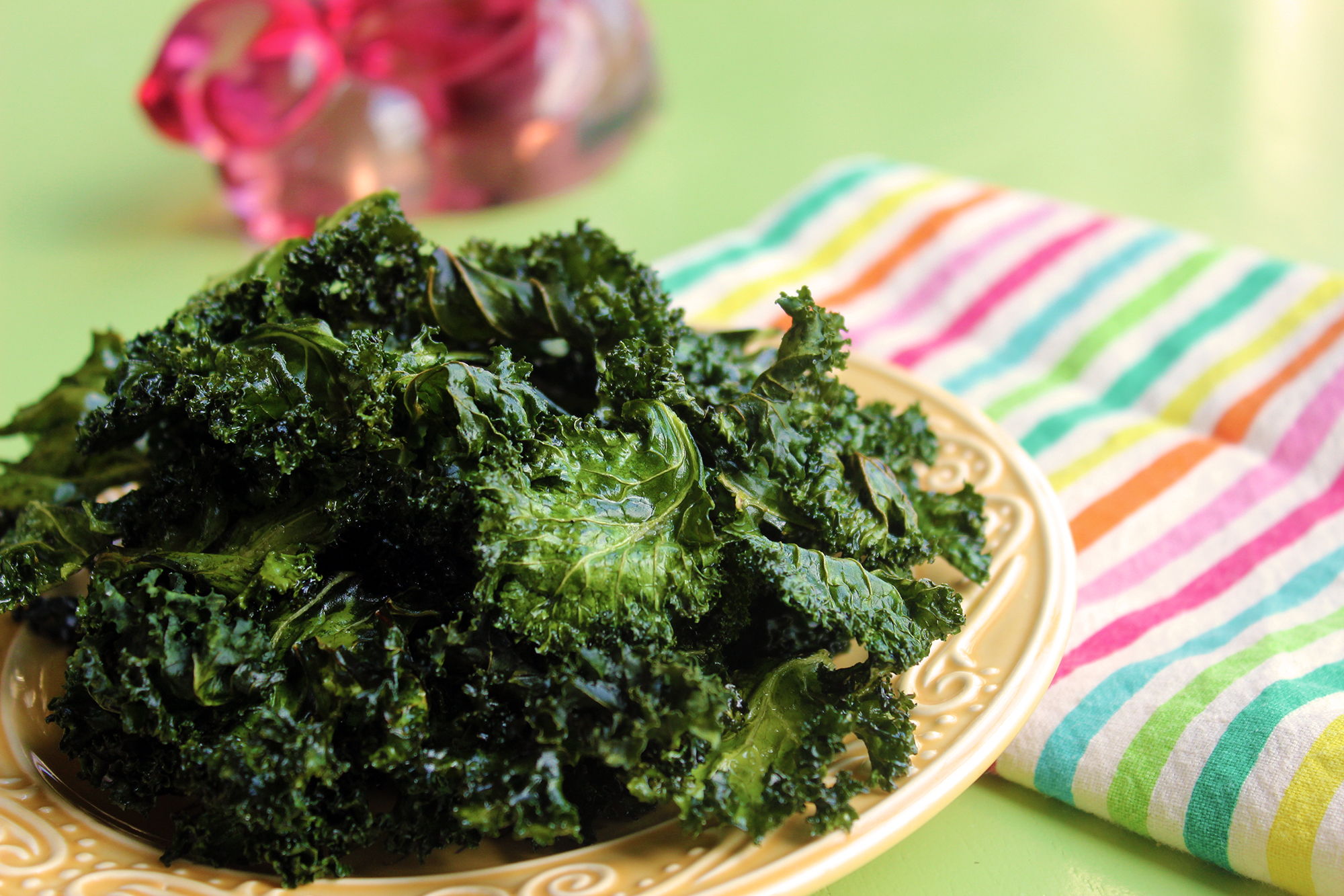 Essential Oil Infused Kale Chips - kale large - Essential Oil Infused Kale Chips