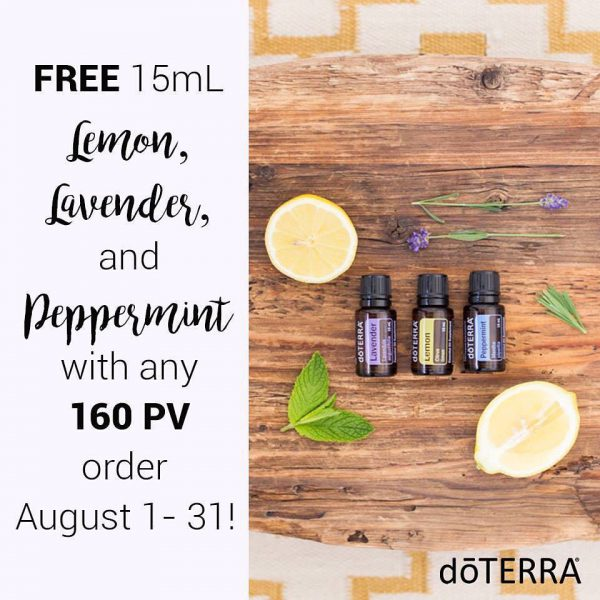 Get Free doTERRA Oils Through August!