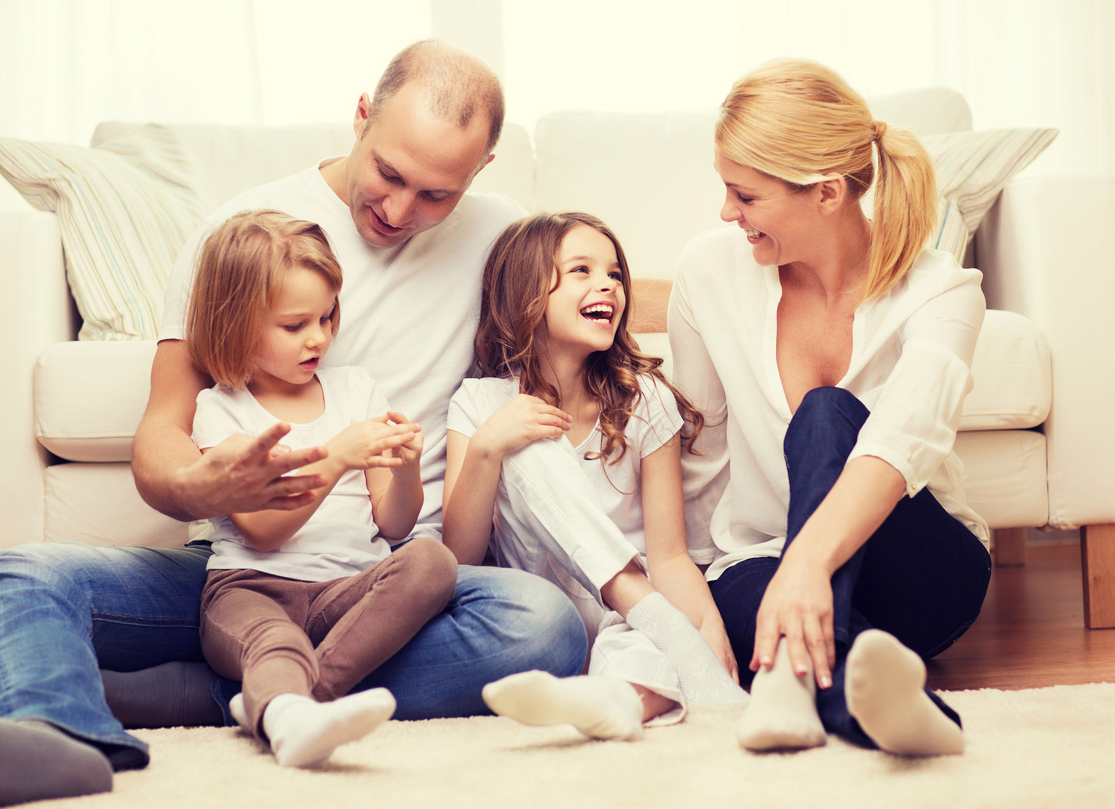 natural oils - bigstock family children and home conc 96663833 - Natural Oil Mom