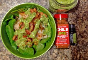Mexican Power Salad - Avo dressing salad 300x205 - Mexican Power Salad